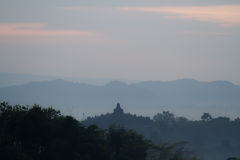Borobudur sunrise Stock Images