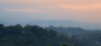 Borobudur sunrise Royalty Free Stock Photography