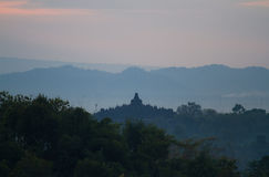 Borobudur sunrise Royalty Free Stock Images