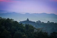 Borobudur sunrise Royalty Free Stock Photos