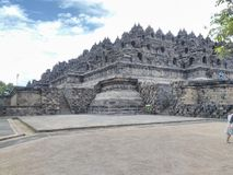 Borobudur tample. This is a biggest one tample from Indonesian Royalty Free Stock Photography