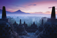 Borobudur-Tempel Stockfotos