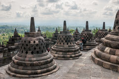 Borobudur tempel Royaltyfria Foton