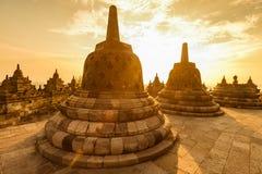 Borobudur-Tempel, buddhistisches stupa lizenzfreie stockfotografie