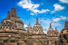 Borobudur tempel i Java royaltyfri bild