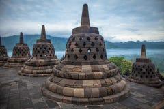 Borobudur Tempel, Indonesien Lizenzfreie Stockfotografie