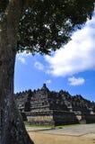 Borobudur-Tempel ist ein touristischer Bestimmungsort in Asien - Indonesien lizenzfreie stockfotografie
