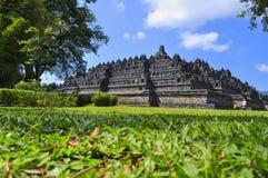 Borobudur-Tempel ist ein touristischer Bestimmungsort in Asien - Indonesien stockbilder