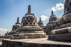 Borobudur-Tempel Java Indonesia Stockfotos