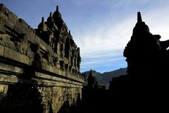 Borobudur-Tempel in Magelang Indonesien stockfotografie