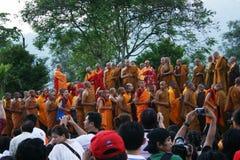 Borobudur tempel och aktiviteten Royaltyfri Fotografi