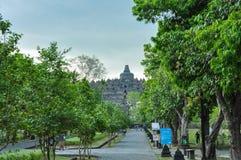 Borobudur tempel på Java royaltyfri foto