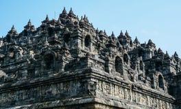 Borobudur tempel på Java Island, Indonesien royaltyfria foton
