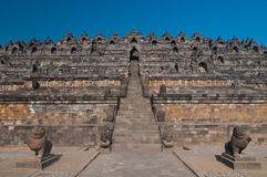 Borobudur Tempel, zentrales Java, Indonesien Lizenzfreies Stockfoto
