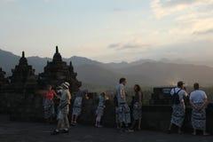 Borobudur Tempel, zentrales Java, Indonesien Lizenzfreie Stockfotos