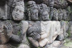 Borobudur tempellättnad Arkivfoton