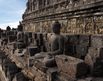 Borobudur Temple. Ancient relief in Borobudur Temple Royalty Free Stock Photography