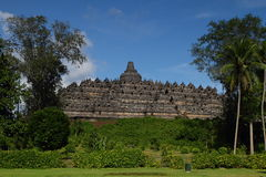 The Borobudur Temple. A Magnificent Buddhist Temple, 7 wonder of the world. This is shoot with the center stupa shown Stock Photography