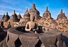 Borobudur temple. Near Yogyakarta on Java island, Indonesia Royalty Free Stock Photography