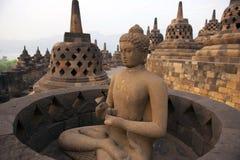 Borobudur Temple. Yogyakarta, Java, Indonesia Stock Photos