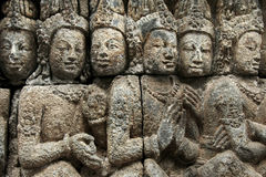 Borobudur temple ancient wall art indonesia Royalty Free Stock Photos