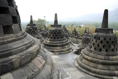 Borobudur temple architecture indonesia Royalty Free Stock Photos
