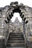 Borobudur temple architecture java indonesia Stock Photos