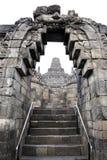 Borobudur temple architecture java indonesia. Detail of  borobudur temple ruins near yogyakarta in java indonesia, a 9th century Mahayana Buddhist monument Stock Photos