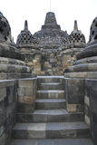 Borobudur temple architecture java indonesia. Detail of  borobudur temple ruins near yogyakarta in java indonesia, a 9th century Mahayana Buddhist monument Stock Photo