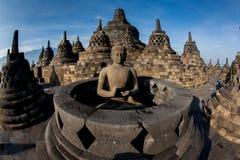 Borobudur Temple.Blue sky Yogyakarta, Java Royalty Free Stock Photography