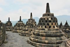 Borobudur - temple bouddhiste du ` s du monde le plus grand construit au 9ème siècle Photo stock
