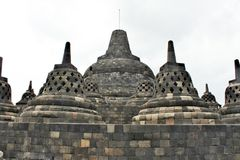 Borobudur - temple bouddhiste du ` s du monde le plus grand construit au 9ème siècle Photo libre de droits
