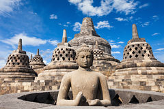 Borobudur Temple. Buddha statue in Borobudur Temple, Java island, Indonesia Royalty Free Stock Photography