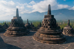 Borobudur Temple, Central Java, Indonesia Stock Photos