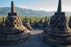 Borobudur. Temple in Central Java, Indonesia Stock Images