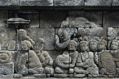 Borobudur Temple, Central Java, Indonesia. Royalty Free Stock Photography