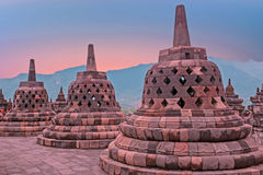 Borobudur Temple in central Java in Indonesia. This famous Buddh Royalty Free Stock Photo