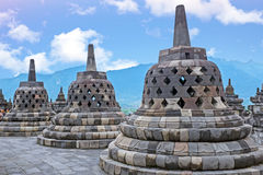 Borobudur Temple in central Java in Indonesia. Stock Photo