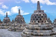 Borobudur Temple in central Java in Indonesia. Stock Photo