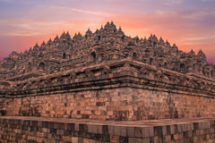 Borobudur Temple in central Java in Indonesia. Stock Image