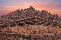 Borobudur Temple in central Java in Indonesia. Stock Image