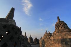 Borobudur temple at central java stock photography