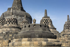 Borobudur temple complex on the island of Java in Indonesia Royalty Free Stock Image