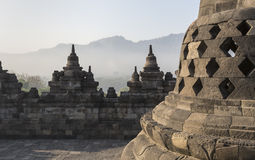 Borobudur temple complex on the island of Java in Indonesia in t Stock Photography
