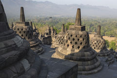 Borobudur temple complex on the island of Java in Indonesia in t Stock Photo