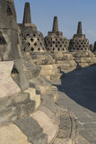 Borobudur temple complex on the island of Java in Indonesia in t Royalty Free Stock Image