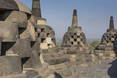 Borobudur temple complex on the island of Java in Indonesia in t Royalty Free Stock Photos