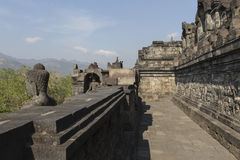 Borobudur temple complex on the island of Java in Indonesia in t Stock Image