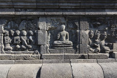 Borobudur temple complex on the island of Java in Indonesia in t Stock Photos