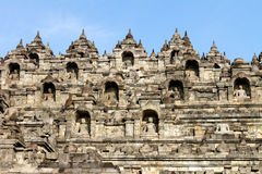 Borobudur temple compounds, Java, Indonesia Stock Photos